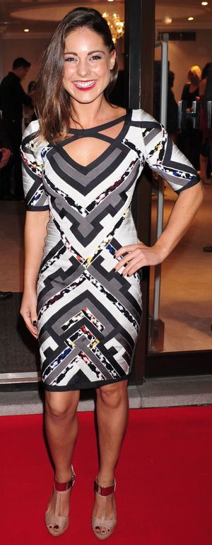 Louise Thompson - Herve Leger by Max Azria Barbie launch, London, Britain - 23 Oct 2013