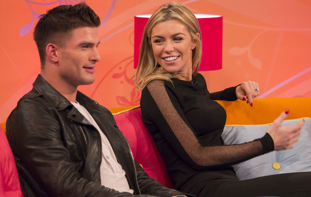 Aljaz Skorjanec and Abbey Clancy appear on ITV's Lorraine - 23 October 2013