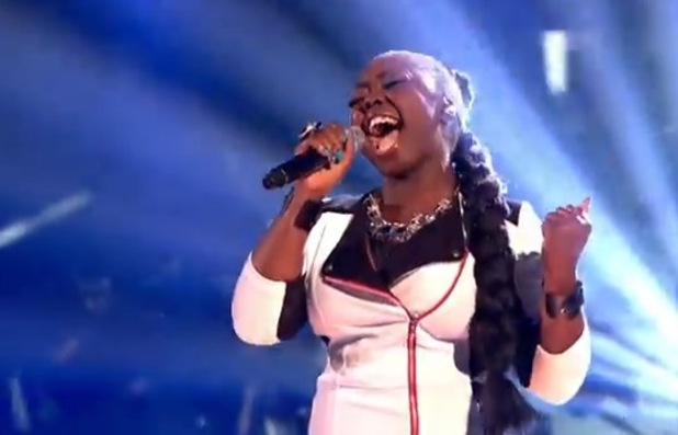 Hannah Barrett on The X Factor 20 October 2013