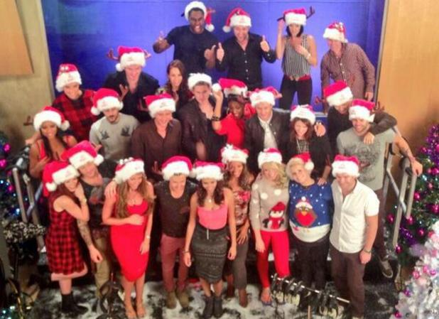 The Big Reunion bands pose on set of their charity Christmas single video shoot - 24 October 2013