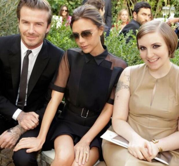 Victoria and David Beckham meet Lena Dunham of Girls at the CFDA/Vogue Fashion Fund event - 23.10.2013