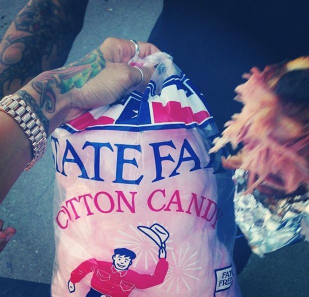 Chris Brown pictured with girlfriend Karrueche Tran - October 2013