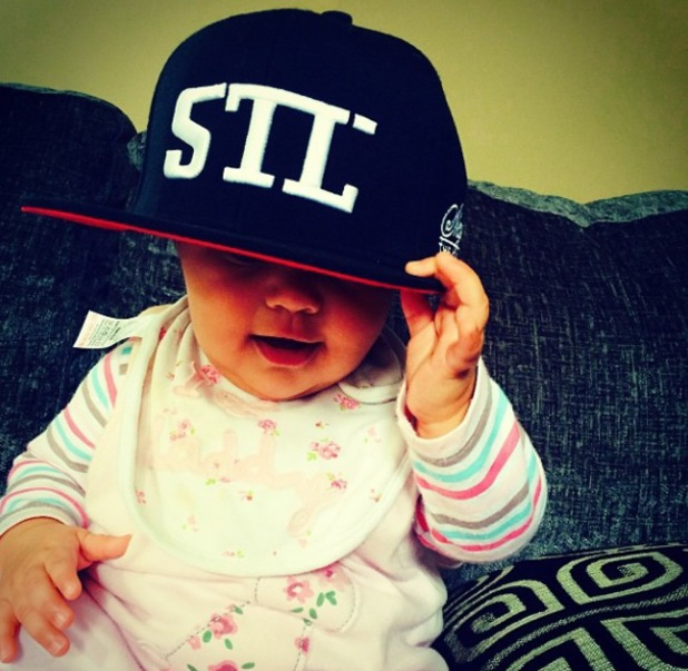 Fazer posts adorable pictures of his daughter Ava - October 2013