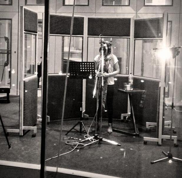 Stacey Solomon in the recording studio - October 2013