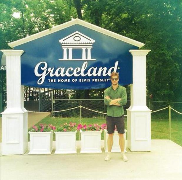 Jamie Dornan visits Graceland - May 2013