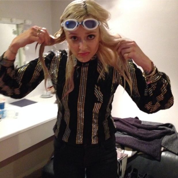 Fearne Cotton left drenched during Celebrity Juice - 23 October 2013