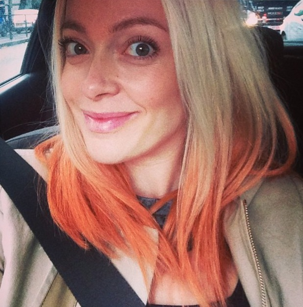 """Pregnant Cherry Healey shows off her new """"lion hair"""" - 21 October 2013"""