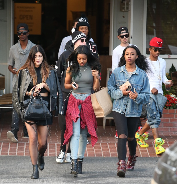 Kendall and Kylie Jenner shop at Fred Segal with their friends. - 23.10.2013
