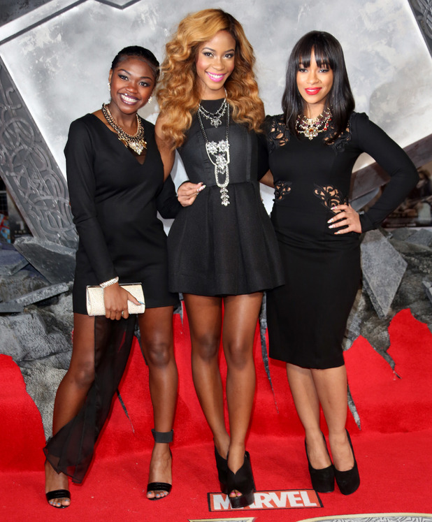 'Thor: The Dark World' World premiere - Arrivals PersonInImage:	Miss Dynamix - SeSe, Jeanette and Rielle Credit :	Lia Toby/WENN.com Date Created : 10/22/2013 Location : London, United Kingdom