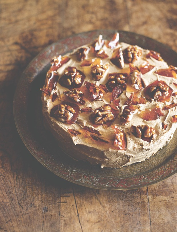 COFFEE, CARDAMOM AND WALNUT CAKE from fiona cairns seasonal baking