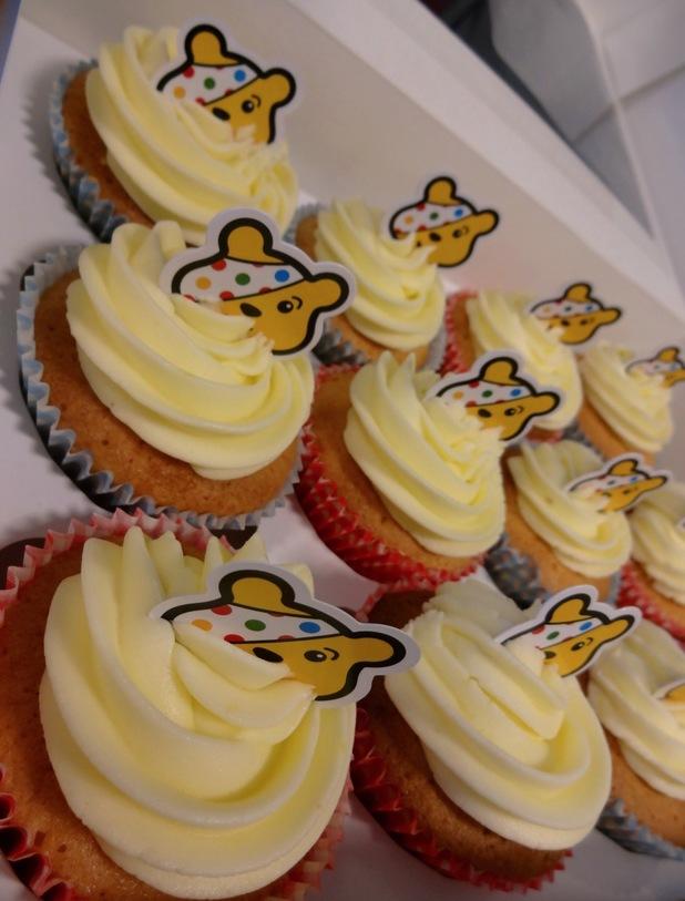 Pudsey lemon curd cupcakes