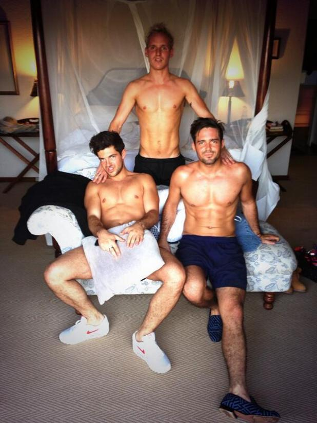 Made In Chelsea's Jamie Laing, Alex Mytton and Spencer Matthews pose topless - 20 October 2013