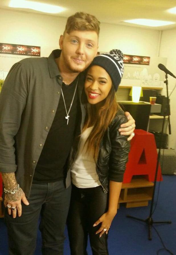 James Arthur poses with Tamera Foster - 19.10.2013