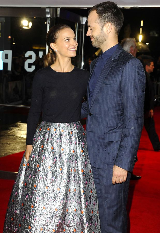 Natalie Portman, Benjamin Millepied at the premiere of Thor: The Dark World in London, 22 October 2013