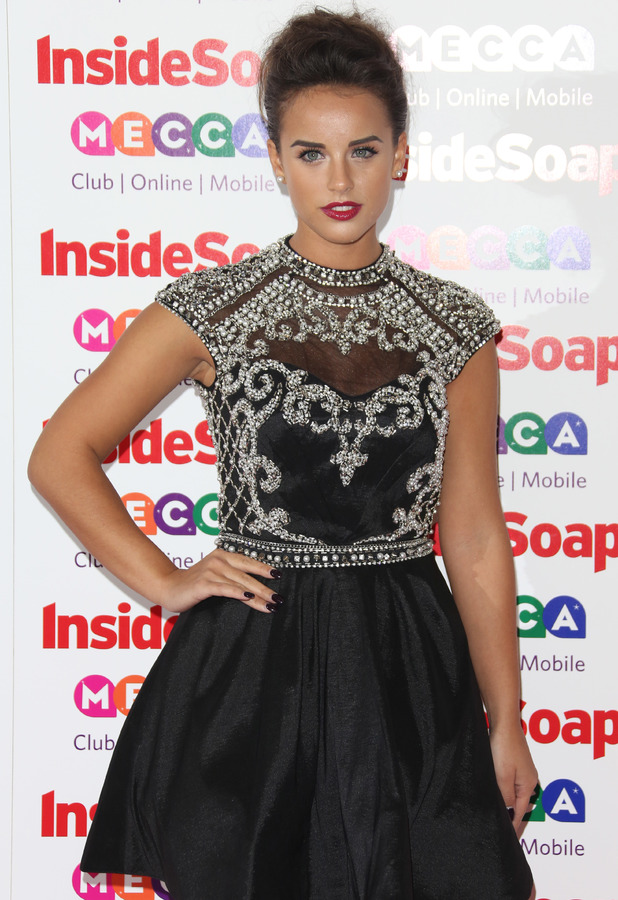 Georgia May Foote - Inside Soap Awards in London, 21 October 2013
