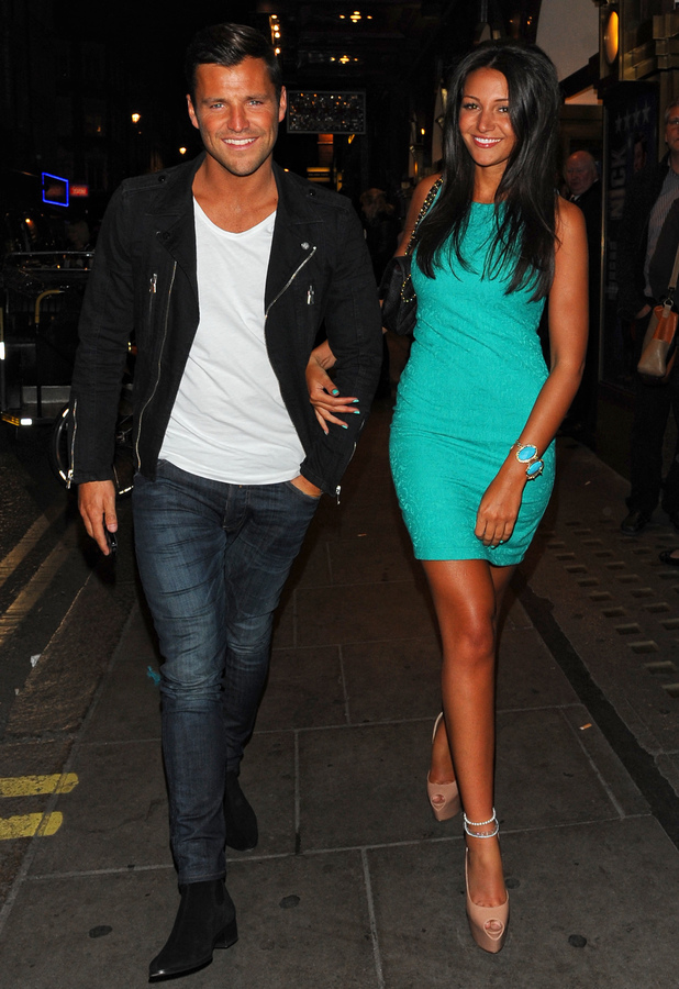 Michelle Keegan, Mark Wright at the Prince Edward Theatre in Soho, London - 5 June 2013