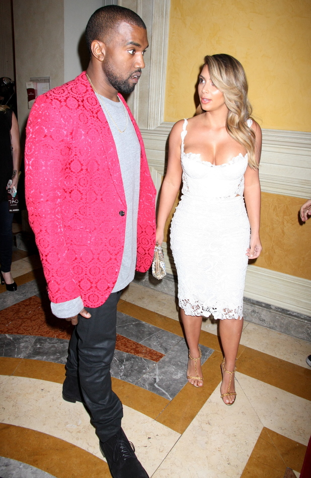 Kim Kardashian shows off cleavage to celebrate her 33rd birthday with Kanye West, Oct 25 2013