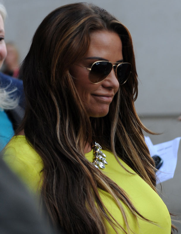 Katie Price visits BBC, 24 October 2013