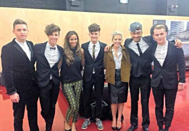 Kingsland Road meet Mollie King and Rochelle Humes of The Saturdays, 22 October 2013