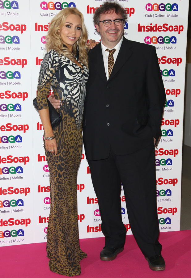Mark Benton,Iveta Lukosiute at Inside Soap Awards 2013, 21 October 2013