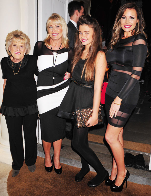 Nanny Pat, Carol Wright, Natalya Wright and Jessica Wright at Claire's Halloween Party, London, 22 October 2013