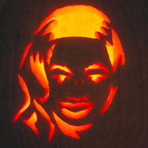 Beyoncé's face carved into a pumpkin for Halloween - 31.10.2013