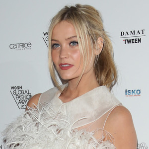 Laura Whitmore attends the WGSN Fashion Awards - London 30th October 2013