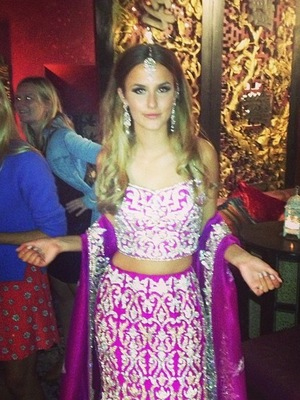 Made In Chelsea's Lucy Watson wearing Indian outfit on Bollywood themed episode of the show - 28.10.2013