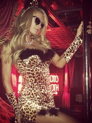 Paris Hilton celebrate Halloween in Los Angeles at Beacher's Madhouse club.