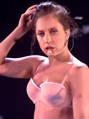 Lady Gaga performs two singles from her new album ARTPOP on 'The X Factor (27 October).