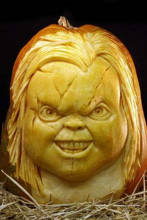 This one is carved into a Chucky doll