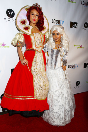 Snooki and J Woww dressed up as The Queen of Hearts and the White Queen for Halloween in New York - 26.10.2013