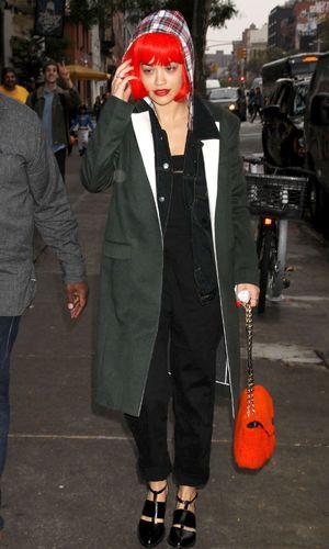 Rita Ora doing some Halloween shopping in New York. 31 October 2013.