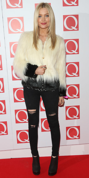 Laura Whitmore at the Q Awards in London, 21 October 2013