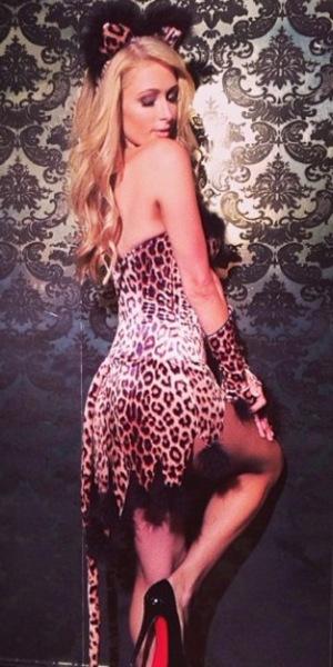 Paris Hilton celebrate Halloween in Los Angeles at Beacher's Madhouse club.