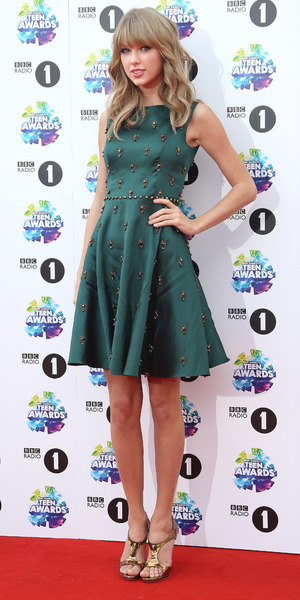 Taylor Swift attends the BBC Radio 1's Teen Awards held at Wembley Arena, 3 November 2013