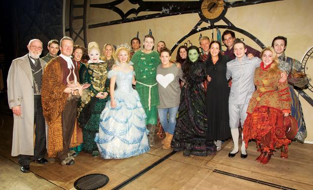 X Factor's Sam Bailey meets cast of Wicked - 30 October 2013