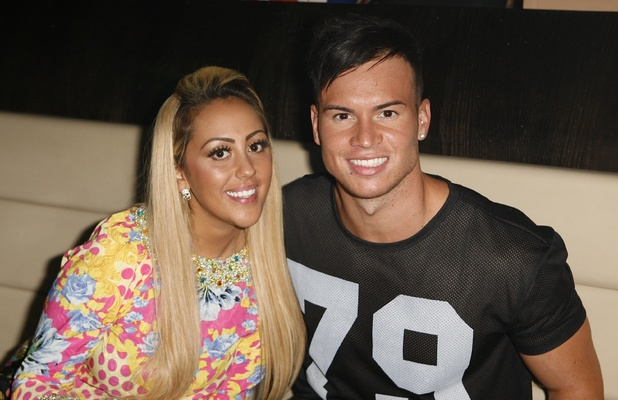 Sophie Kasaei and Joel Corry at the Vox Bar in Telford, 6 September 2013