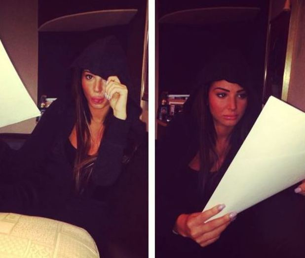 Tulisa posts Instagram photo from the recording studio