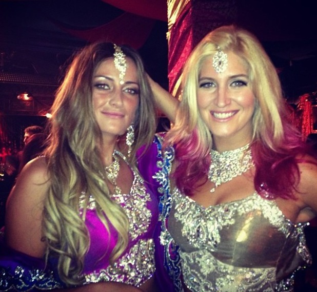Made In Chelsea's Cheska Hull and Francesca Newman-Young wearing Indian outfits on Bollywood themed episode of the show - 28.10.2013
