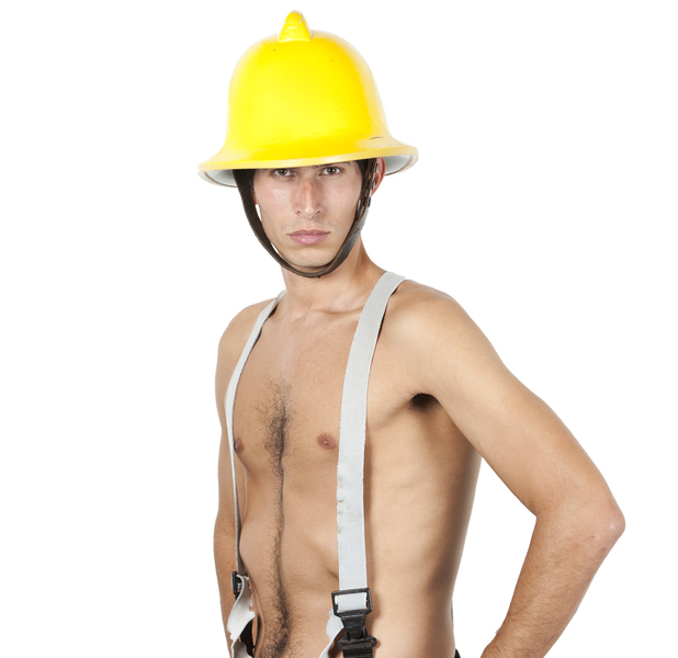 Man dressed up as a fireman