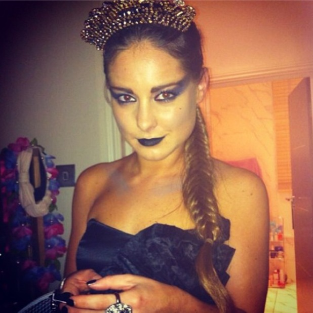 Made In Chelsea's Louise Thompson channels Black Swan for Halloween - 1 November 2013