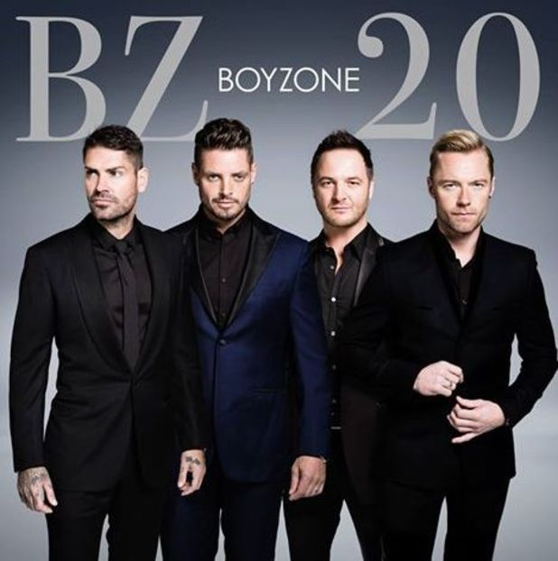 Boyzone - Ronan Keating, Mikey Graham, Shane Lynch and Keith Duffy - album cover to celebrate their 20 year anniversary.