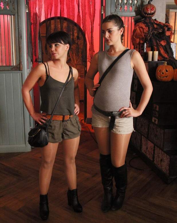 Hollyoaks, Nancy and Sienna, Thu 31 Oct