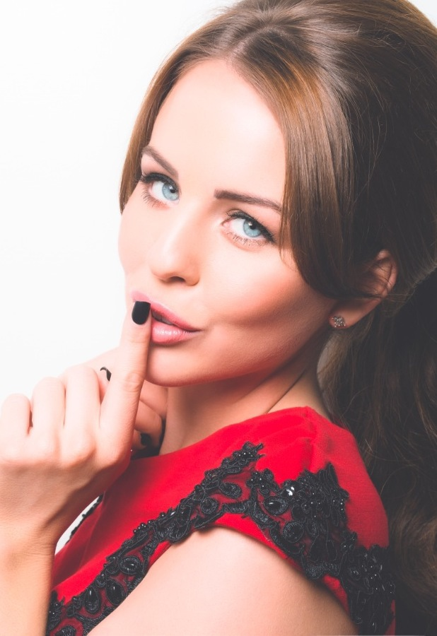 Lydia Bright for imPress press-on manicure by Broadway Nails, October 2013