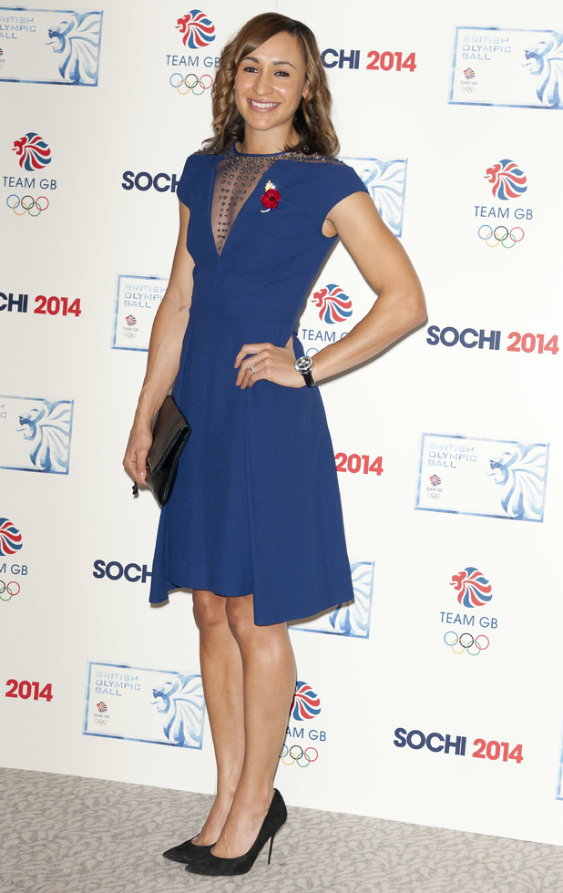 Jessica Ennis-Hill at the British Olympic Ball in London, 30 October 2013