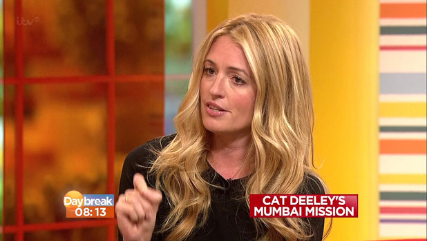 Cat Deeley appears on 'Daybreak', and talks about her Unicef mission to Mumbai. Shown on ITV1 HD, 23 October 2013