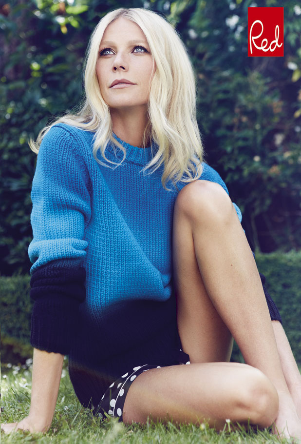 Gwyneth Paltrow is the cover star for Red magazine's December 2013 issue, on sale 6 November 2013