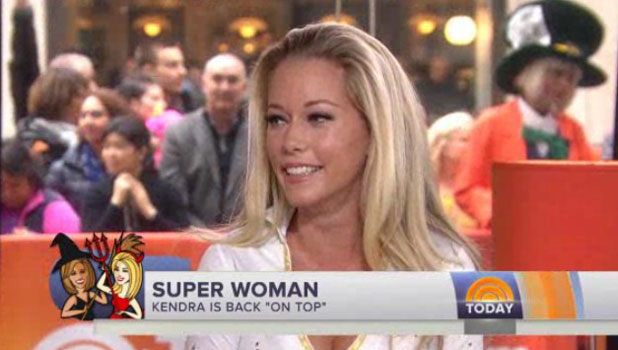 Kendra Wilkinson announces her second pregnancy live on the Today show, 31 October 2013