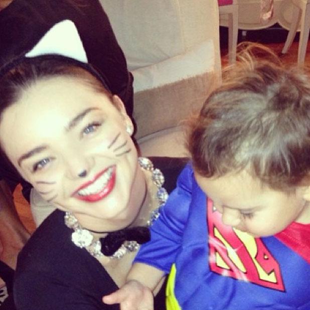 Miranda Kerr and son Flynn Bloom dress up for Halloween, 31 October 2013